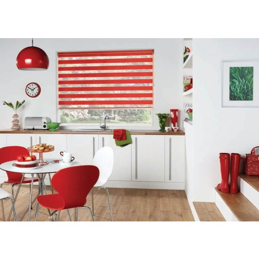 Capri Scarlet Made to Measure Vision Roller Blind