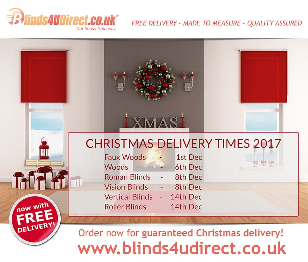 Christmas Delivery Times 2017